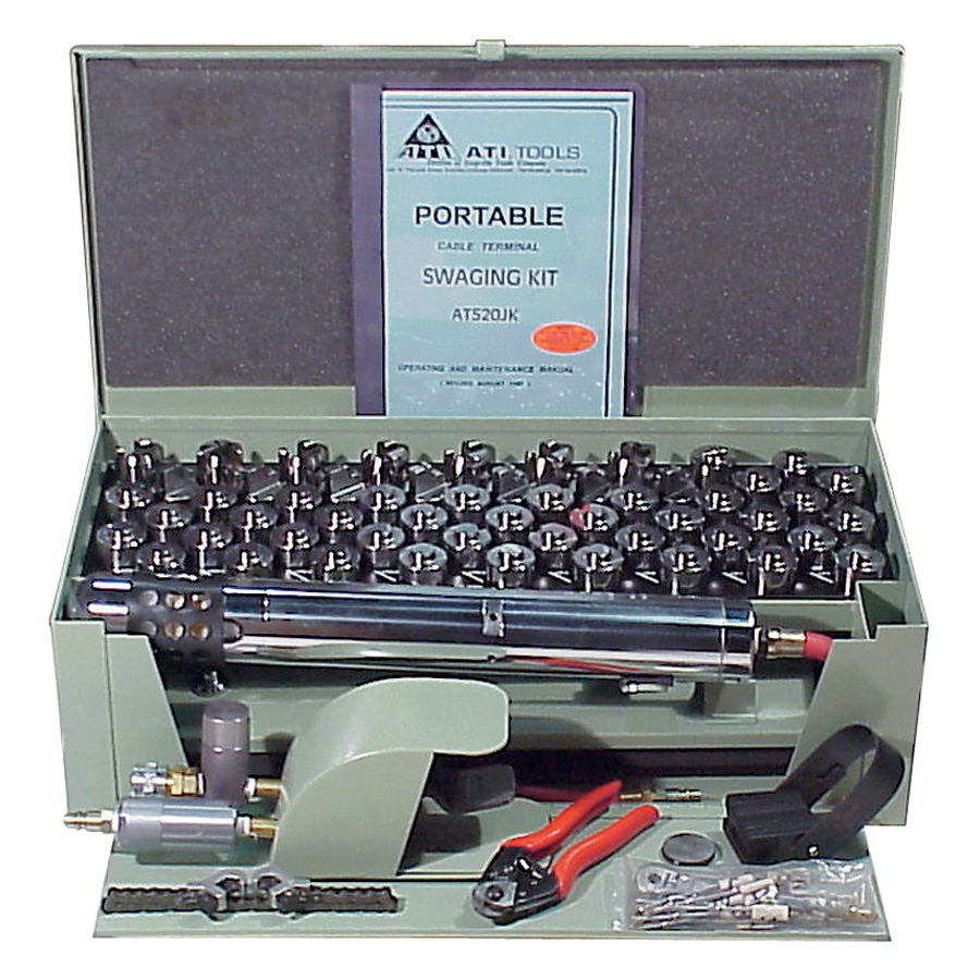 Portable Pneumatic Cable Terminal Swager Kit - PORTABLE PNEU CABLE
